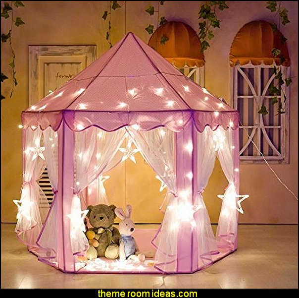 Kids Play House Indoor Outdoor Pink Princess Castle Play Tent
