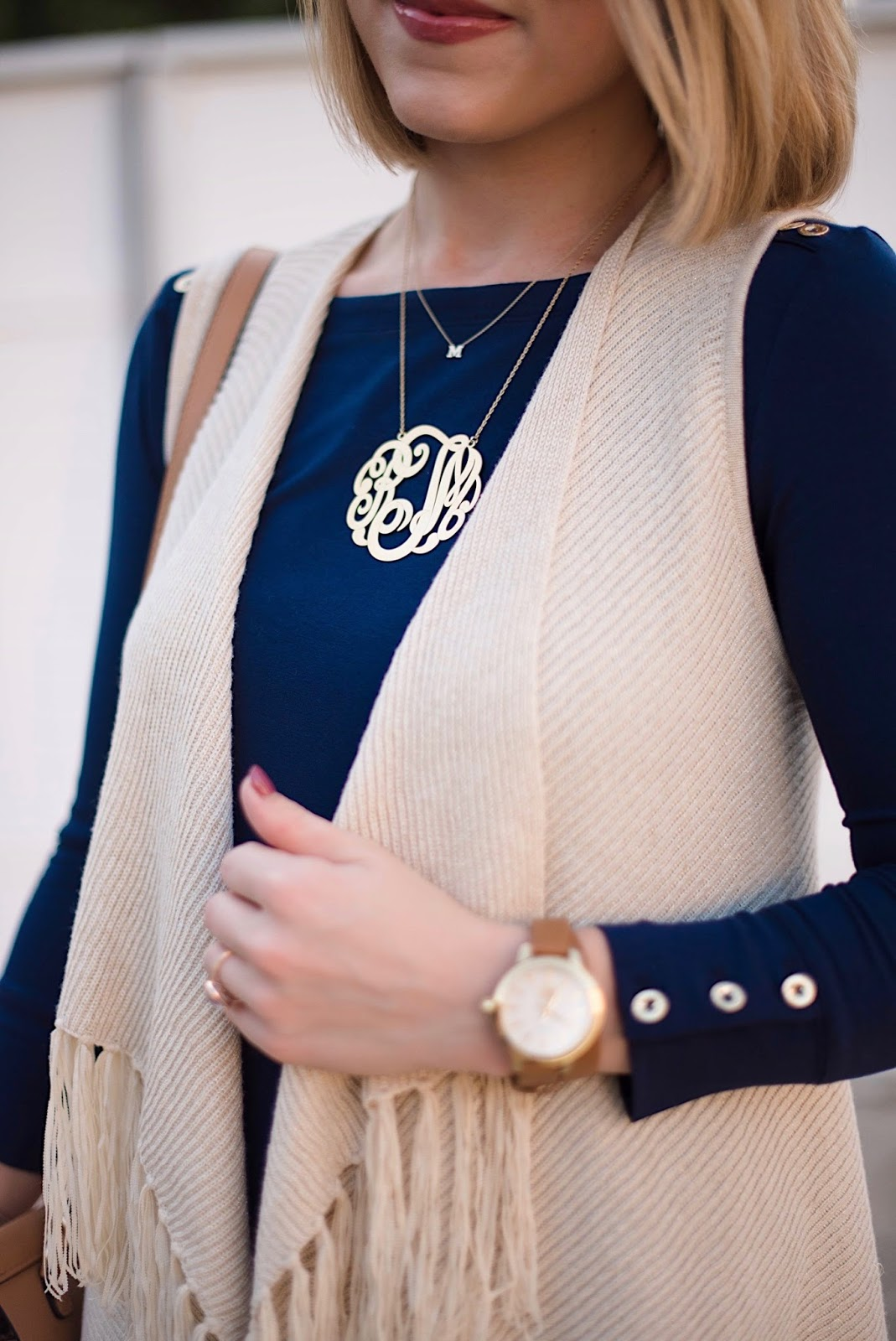 Extra Large Monogram Necklace - Rachel Timmerman of Something Delightful Blog