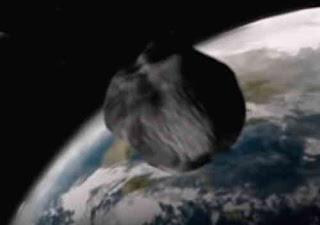 Wizja asteroidy lecącej ku Ziemi