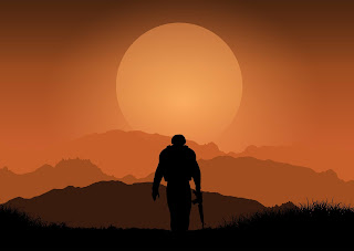 soldier and sun