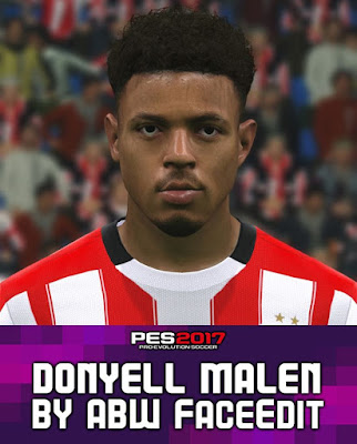Donyell Malen Face PES2017 by ABW FaceEdit