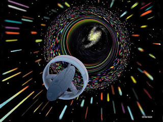 Wormhole travel as envisioned by Les Bossinas for NASA (Wikipedia)
