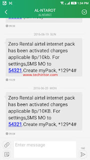 Trick to Activate Airtel 3G Zero Rental Pack @ RS.0