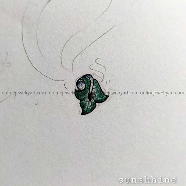 invisible setting diamond earrings