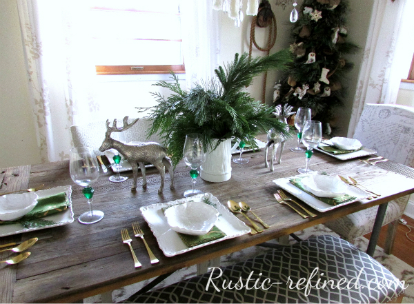 Christmas Tablescape Using Fresh Greenery Rustic Amp Refined