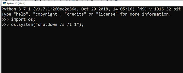 Script Python Mematikan Komputer