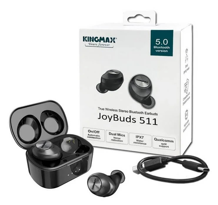 KINGMAX Joins the TWS Bandwagon with the JoyBuds511 with Qualcomm Bluetooth Chip