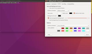 Mengubah Background Terminal Menjadi Transparan