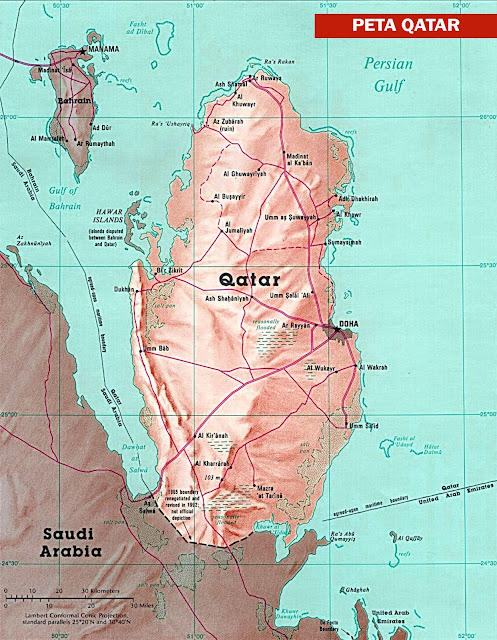 Gambar Peta Klasik Qatar