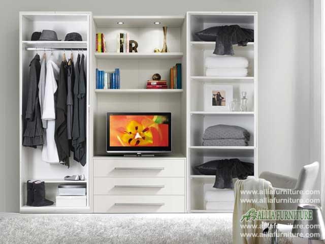 lemari pakaian minimalis tv model vios