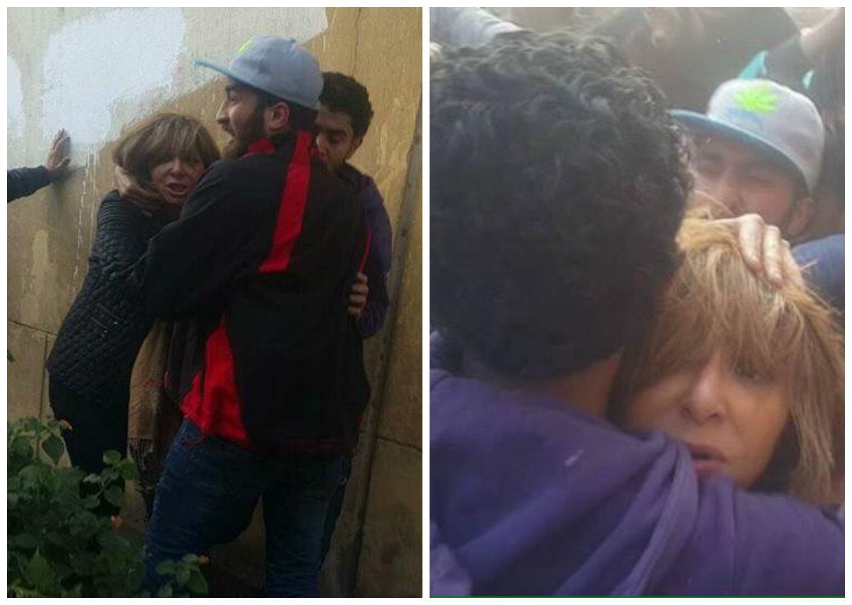 """بالفيديو الإعتداء على الإعلاميين ومنعهم من دخول الكنيسة , الإعتداء على """"لميس الحديدي"""" وريهام سعيد وأحمد موسى"""