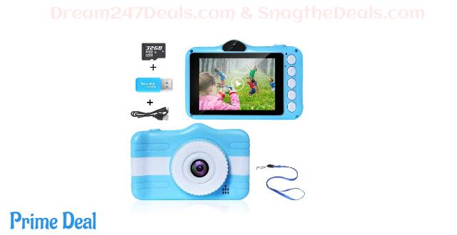 Kids Camera Digital Large IPS Screen  50% OFF