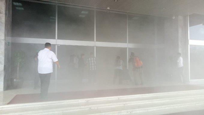 Innalillah, Gedung DPR Kebakaran
