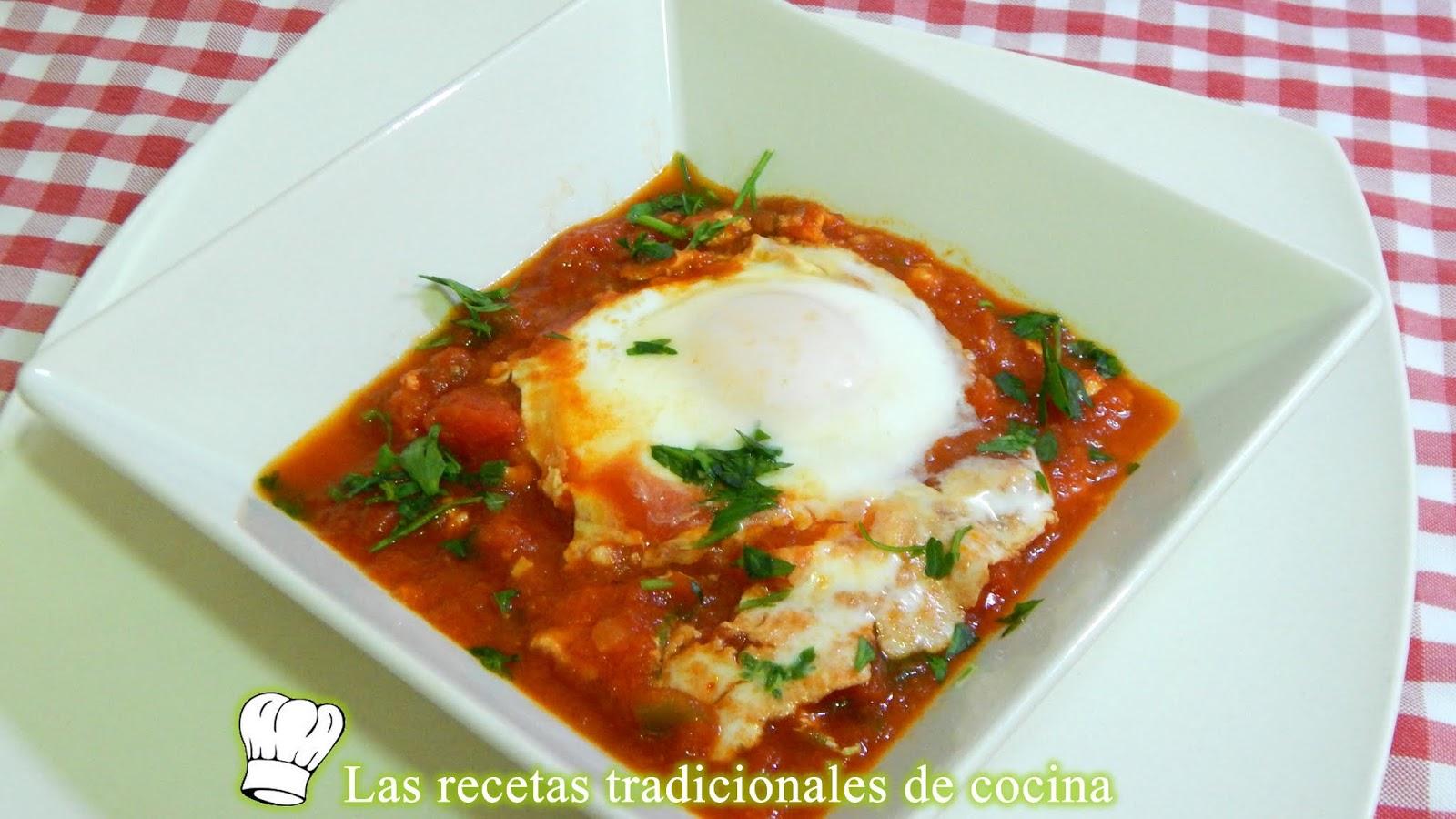 Huevos Pobres Con Tomates Una Receta Tradicional, Fácil Y Económica