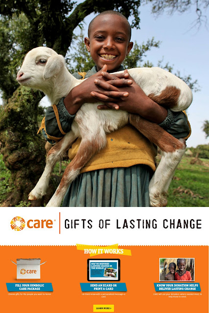 This holiday season you can give a gift of lasting change to people who really need it. Giving on behalf of friends and family is a meaningful way to honor the people we love while spreading that love across the globe. Charitable giving at its finest! CARE packages are easy to customize with their gift catalog! Come find out how it works.