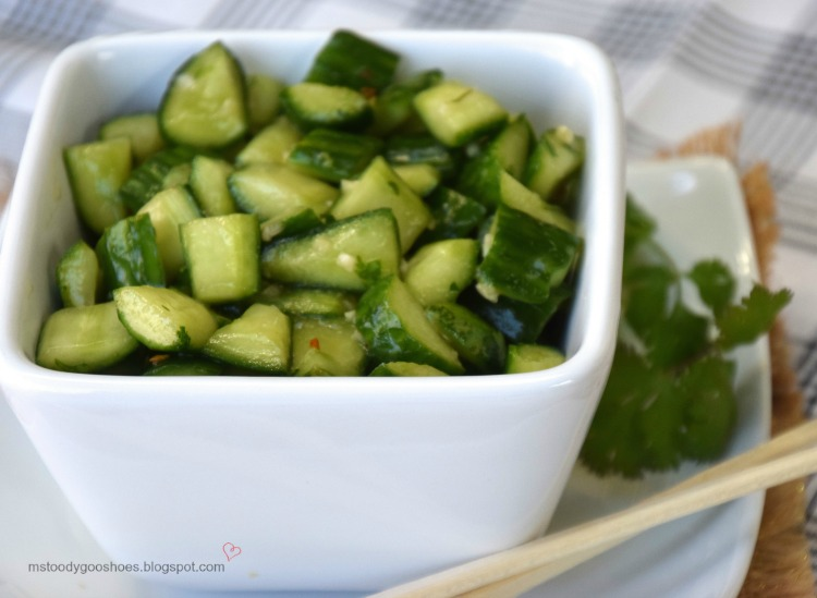 Chinese Smashed Cucumbers With Sesame Oil and Garlic | Ms. Toody Goo Shoes