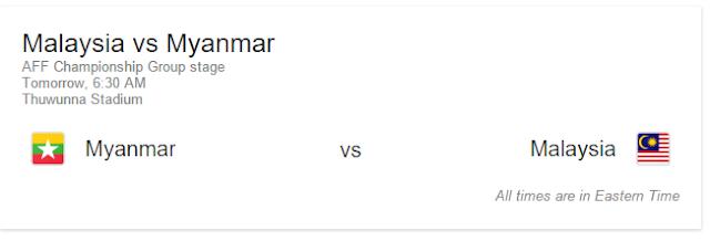 Live Streaming Malaysia vs Myanmar 26.11.2016