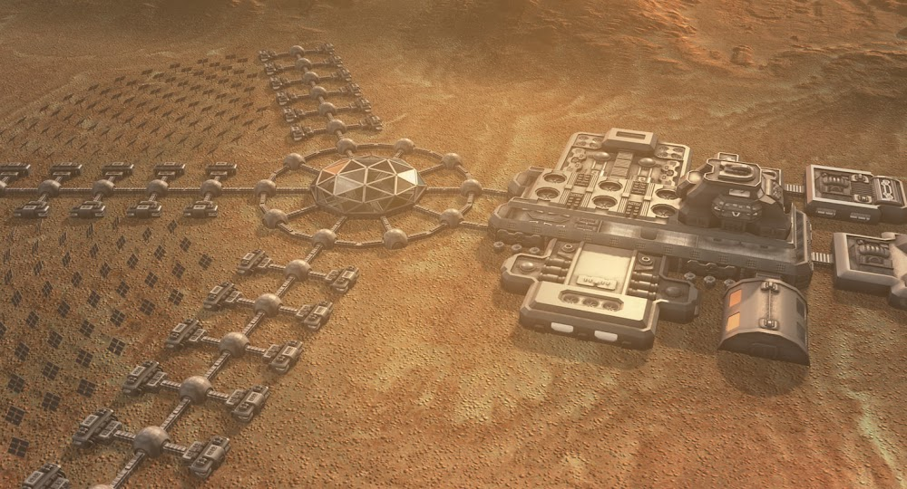 Mars colony concept by Dmitry Azarov for National Geographic's MARS TV series