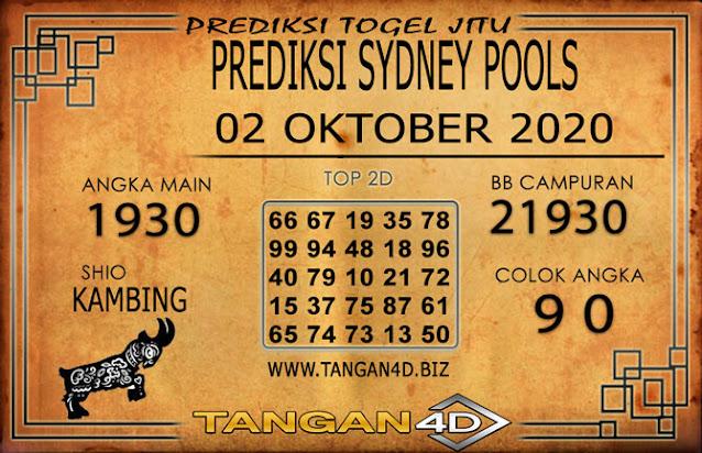 PREDIKSI TOGEL SYDNEY TANGAN4D 02 OKTOBER 2020