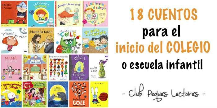 cuentos infantiles libros emociones inicio colegio escuela ayuda adaptación