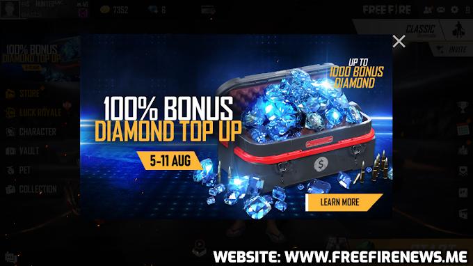 New 100% Bonus On Diamonds Recharging/Top-Up!