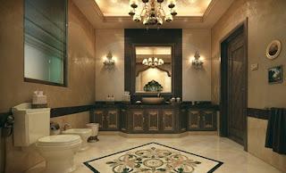 Baño marrón beige