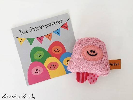 Taschenmonster Schulfreund kreative Geschenke Einschulung