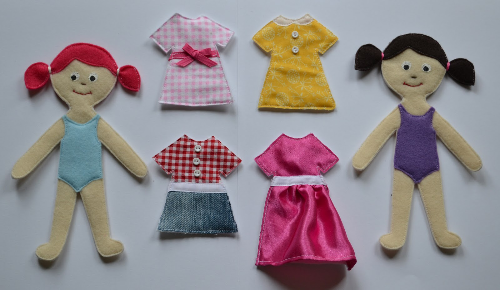 Nap time crafts felt dolls for Felt dress up doll template