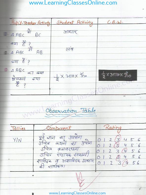 मिक्रोटीचिंग गणित पाठ योजना ( लेसन प्लान ) प्रस्तावना कौशल tribhuj टॉपिक पर