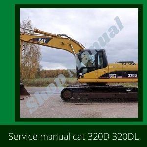 Caterpillar cat 320D cat 320DL excavator service manual