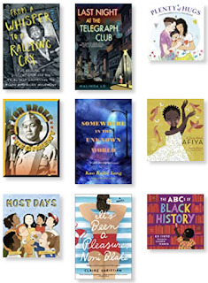 nine book cover images of the titles listed below