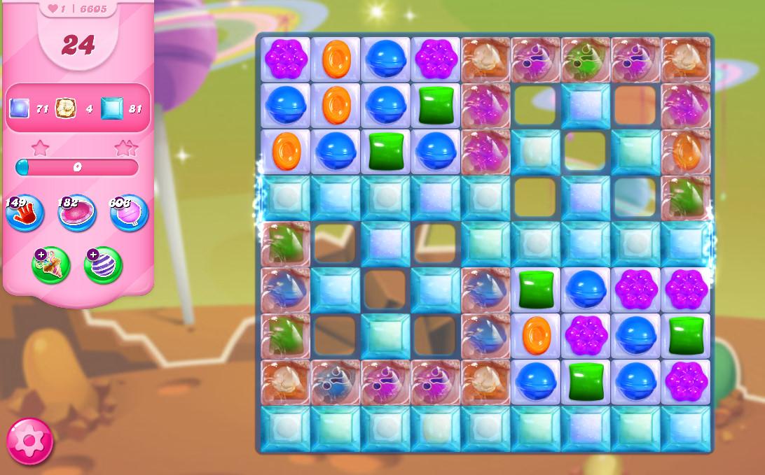 Candy Crush Saga level 6605