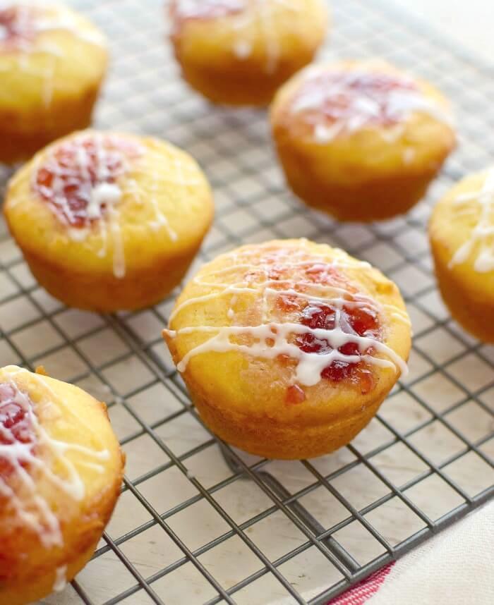 Muffins básicos preparados con harina de arroz y avena