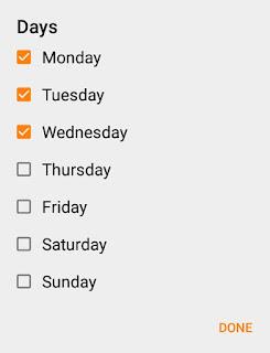 Set days