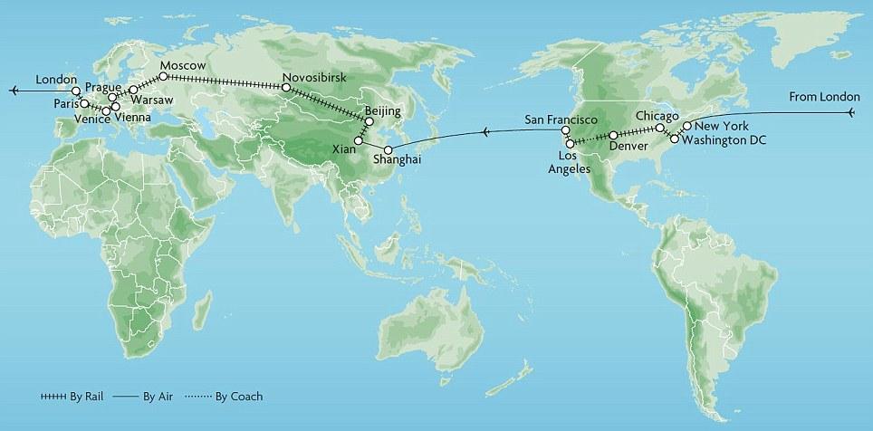 ART and ARCHITECTURE mainly My dream roundtheworld rail tour – Rail Travel Usa Map