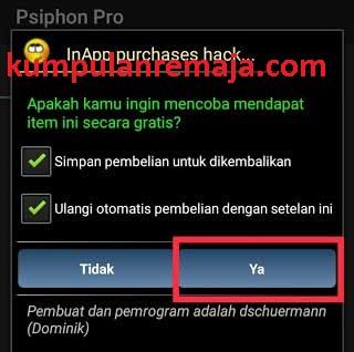 hack aplikasi Psiphon Pro