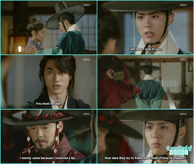 Crown Prince ask byung yun to take ra on to a safe place - Love In The Moonlight - Episode 15 Review (Eng Sub) - park bo gum & kim you jung