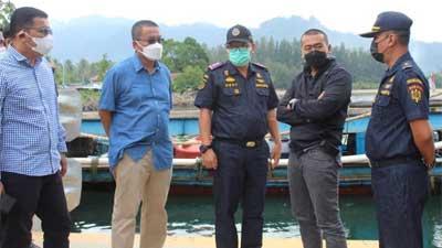 tinjau Pelabuhan Samudera Bungus di Padang