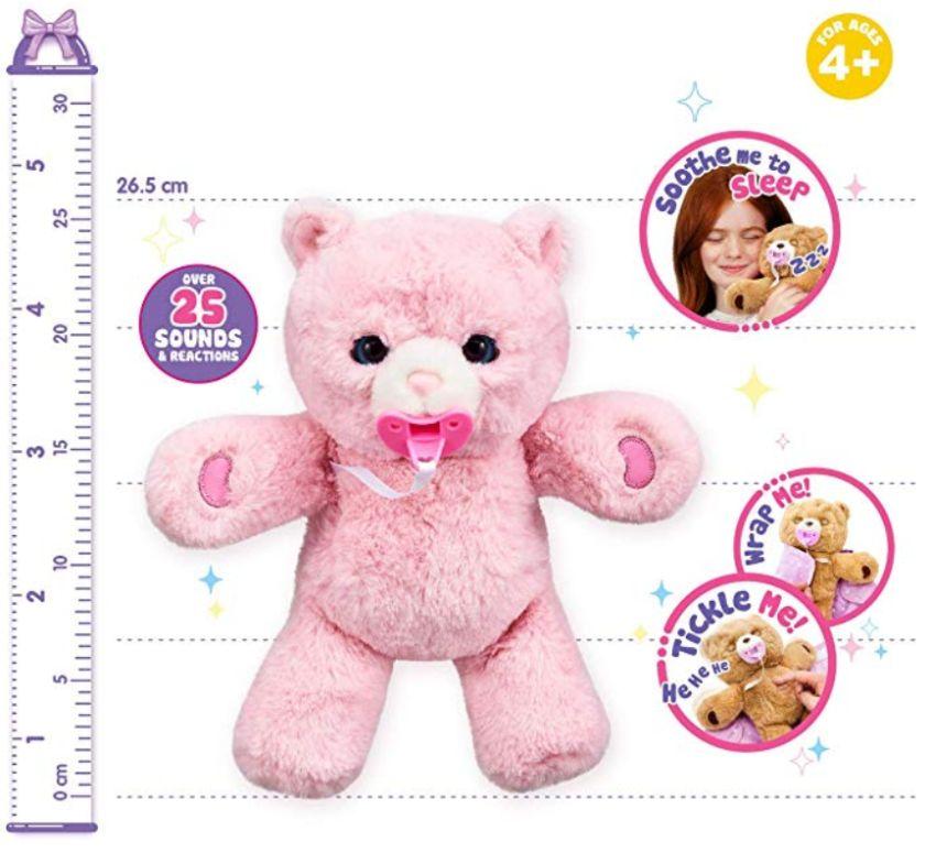 Розовый интерактивный мишка Cozy Dozy Bear Pinki