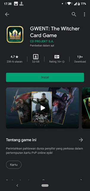Game GWENT Google Play Store