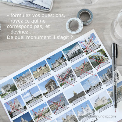 jeu, questions-réponses, monuments français, patrimoine français, FLE, le FLE en un 'clic'