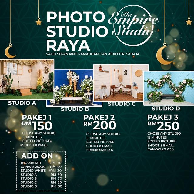 Photoshoot Raya dekat The Empire Studio
