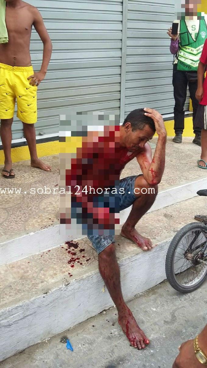 Homem é gravemente ferido a golpes de facão na cidade de Forquilha