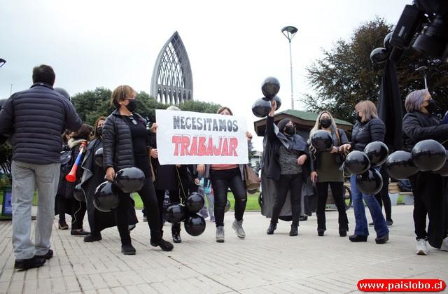 Manifestación de peluqueras de Osorno
