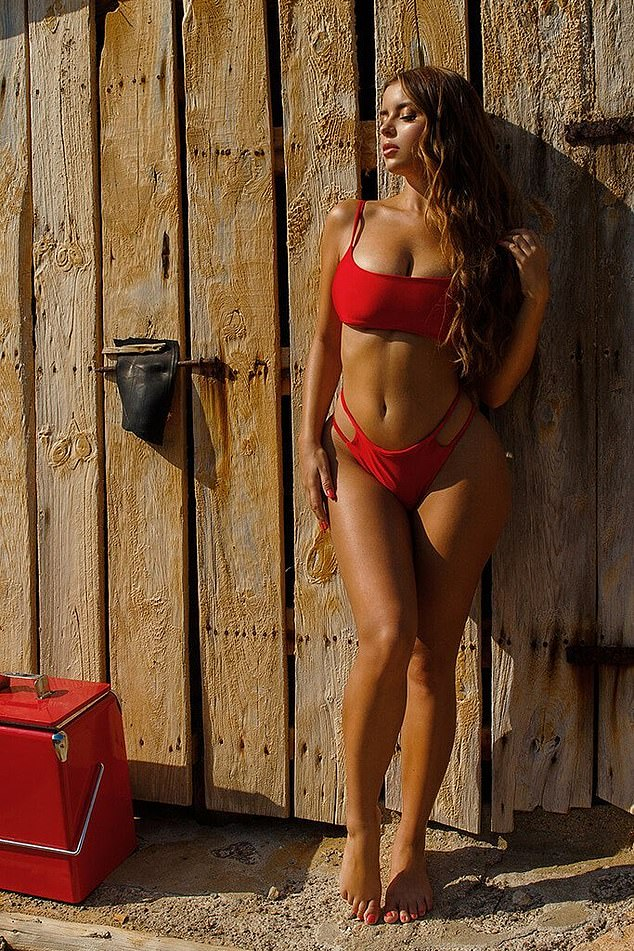 Demi Rose flaunts her enviable curves in sultry swimwear shoot