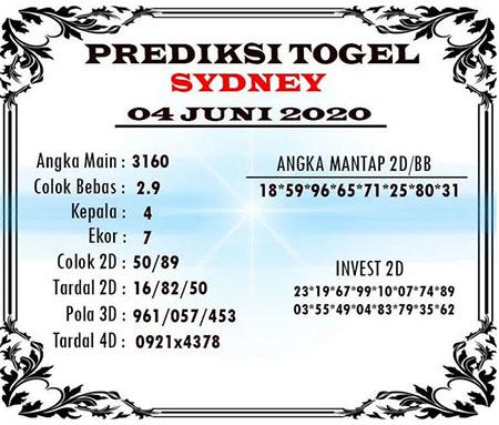 Kode Syair Sydney Kamis 04 Juni 2020 - Kode Syair Sydney