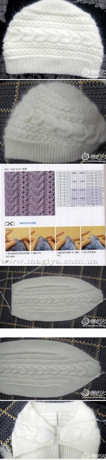 czapka na drutach - fototutorial
