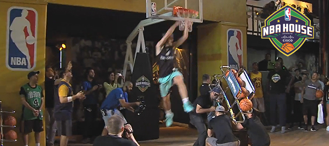 Jordan Kilganon Performs NEVER BEFORE SEEN Dunk in front of NBA Legends (VIDEO)