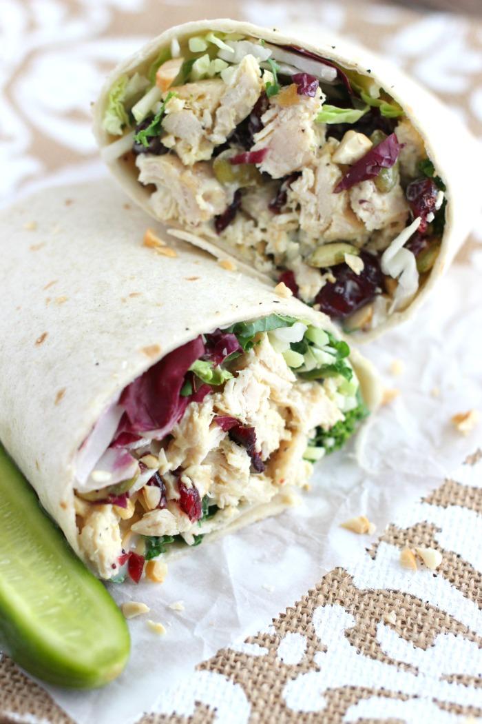 Mama Loves Food!: Cashew Chicken Salad & Kale Wraps