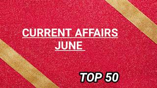 June 2019 Current affairs